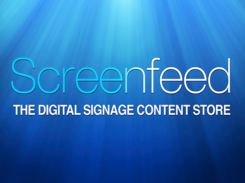 Signage ScreenFeed Media RSS Content