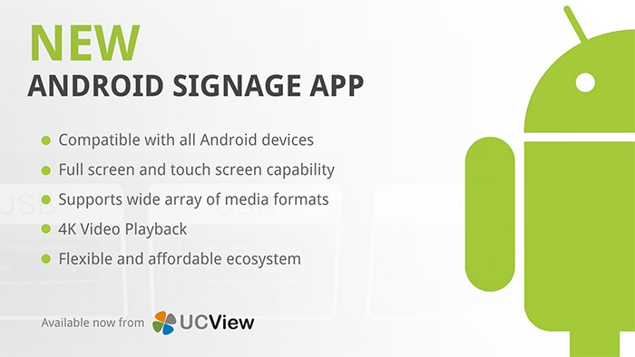 UCView Launches Android Digital Signage App