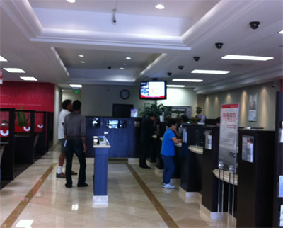 digital signage bank and financial institutes
