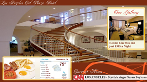Digital Signage layout for hotels