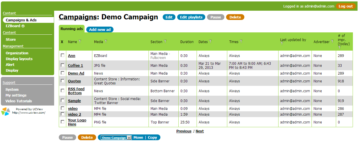 Create and Manage Your Campaigns