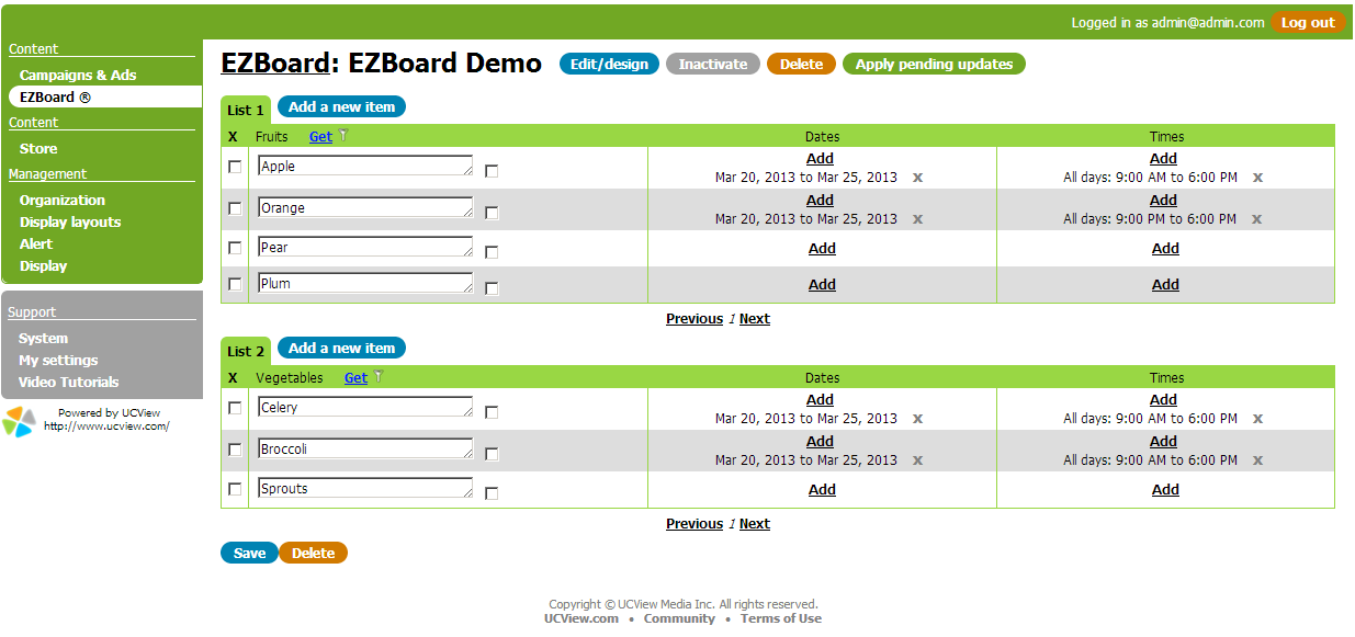 Learn How to Create a List of Items with EZBoard