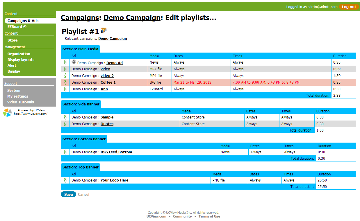 Manage Your Playlist in Campaigns and Ads