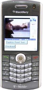 Digital signage for blackberry