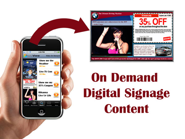 UCView Digital Signage Content On Demand Feature