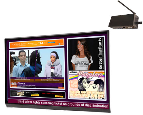 Digital signage connectivity using cellular wireless communication powered by UCView