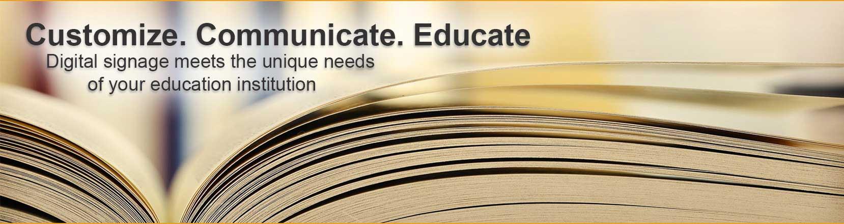 digital signage for education software