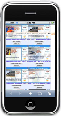Digital signage for iphone