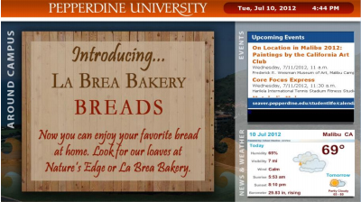 Pepperdine University Digital Signage Case Study
