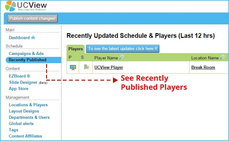 UCView Introduces Recently Published Feature