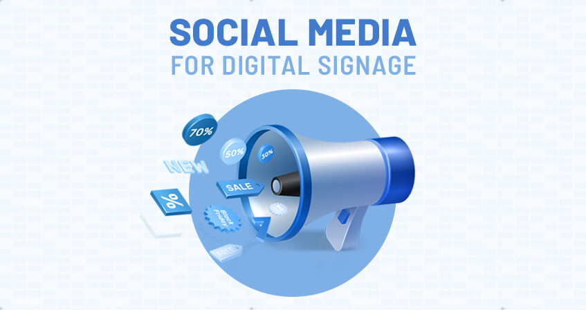 Use Social Media For Engagement In Digital Signage