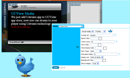 Twitter on UCView Digital Signage Store