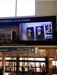 Large digital signage installation in the heart of the hispanic Market