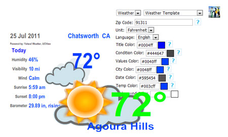 UCView New Weather widgets for digital signage